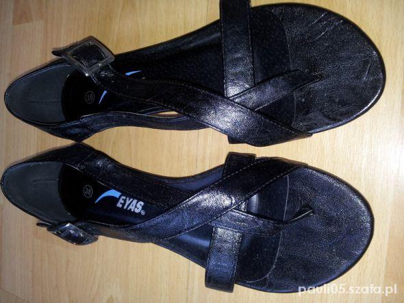 15pln sandałki czarne nowe