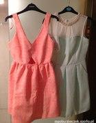 zara koralowa sukienka