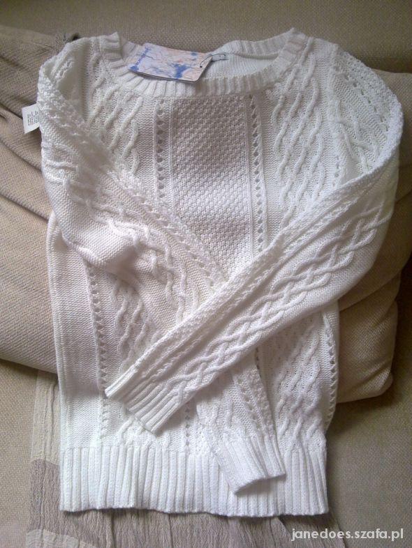 pleciony sweter warkocze stradivarius