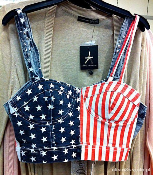cudo gorset bralet flaga USA