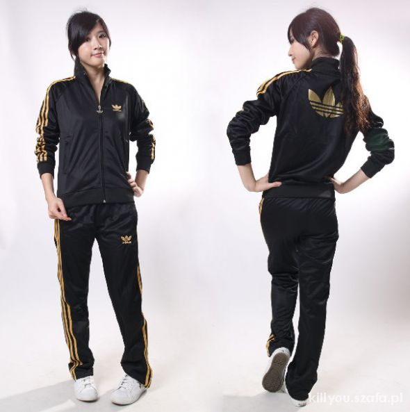 Nowy Dres Adidas z koroną duże logo na plecach M w Dresy