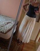 długa brzoskwiniowa łososiowa spódnica