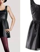 sukienka eko skóra H&M