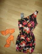 sukienka amisu floral xs...