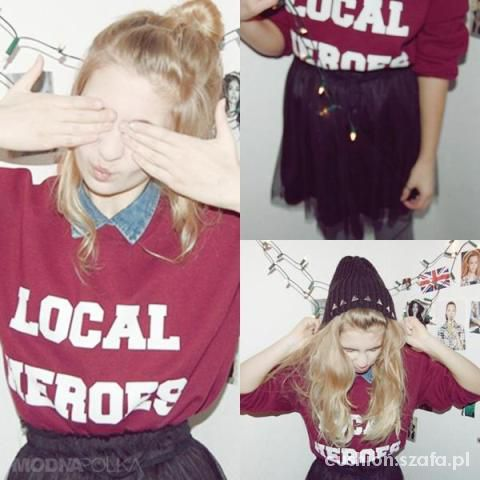 Bluza LOCAL HEROES in burgundy...