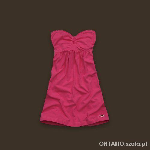 Hollister Abercrombie & Fitch różowa sukienka