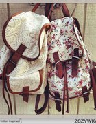 Plecak vintage z koronką