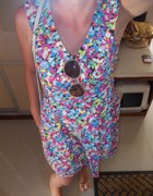 sukienka w kwiaty Topshop...
