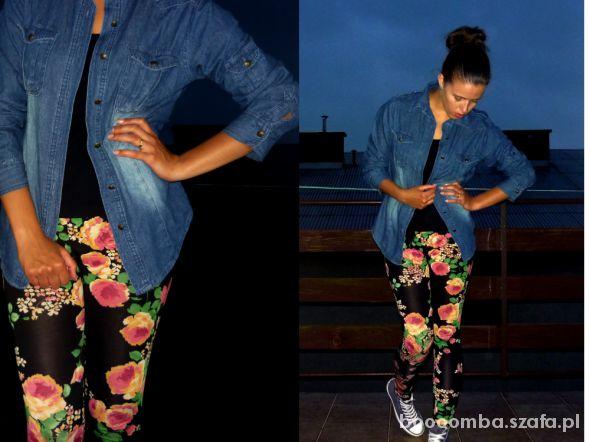 Mój styl jeans floral