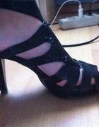 NEW LOOK sandałki szpilki platformy czarne super