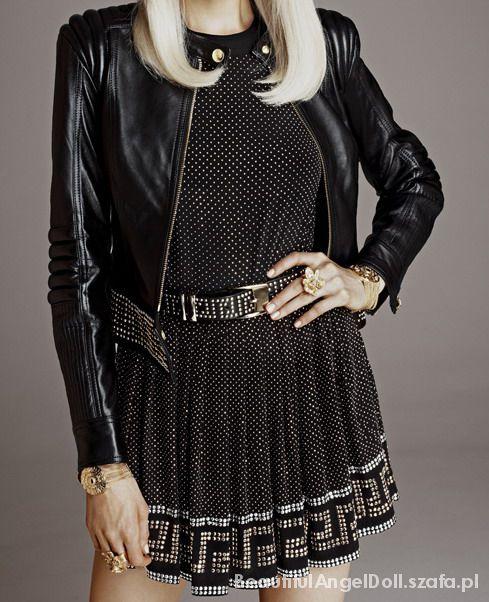 Versace HandM czarna bluzka