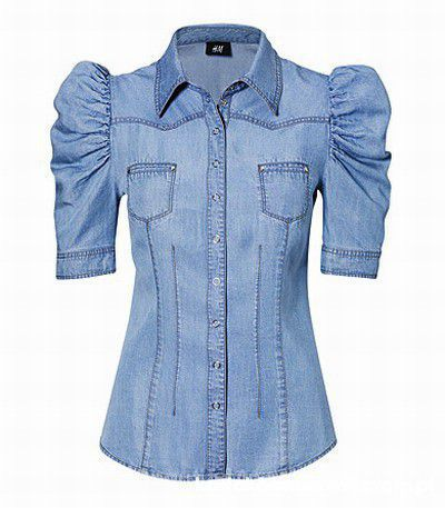 koszula jeansowa bufki