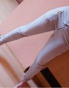 moje dresowe rureczki z zipami