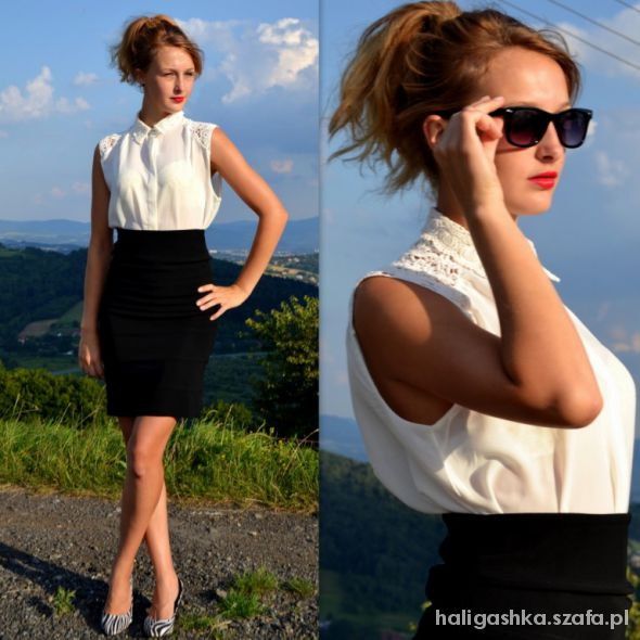Eleganckie White and black classic set