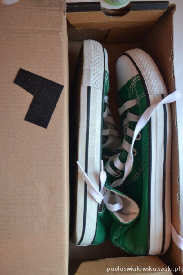 Trampki converse zielone