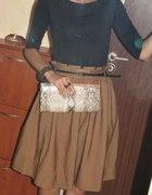 karmelowa spodnica...