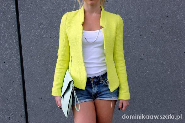 limonkowy lub żółty żakiet XS...