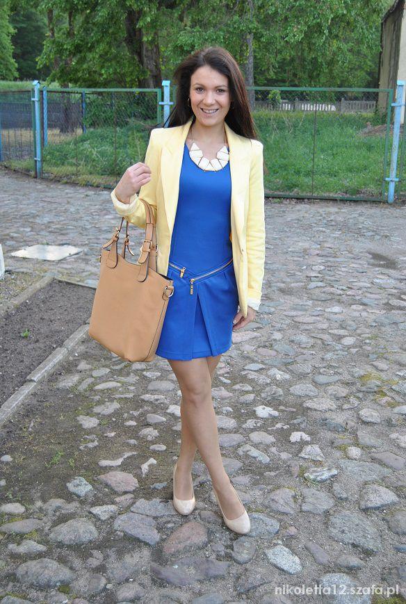 Eleganckie pomaluj mój świat na żółto i na niebiesko