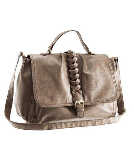 Teczka School Bag H&M nude beż