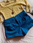 pastelowy żółty i niebieski