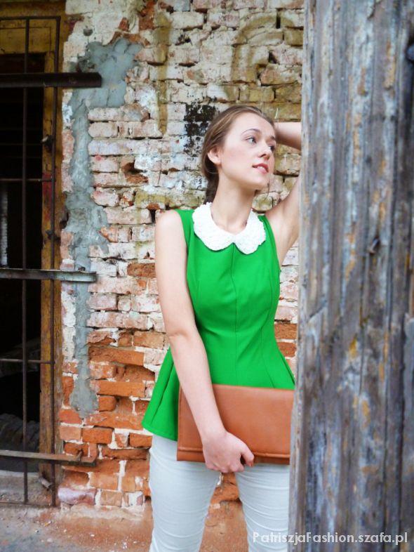 Bluzy zielona baskina na 4 sposoby