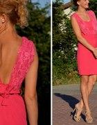 Piękna różowa sukienka handmade na sprzedaż...