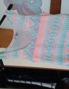 aztec pastel new look krotki top