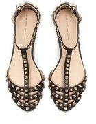 Skórzane sandały z ćwiekami Zara...