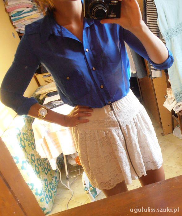 Mój styl lednio koronkowa spodniczka