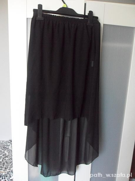 Spódnice Asymetryczna spódnica 36 S czarna tiul tiulowa