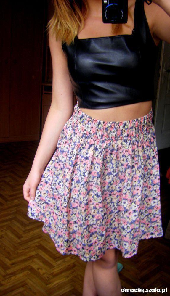 Spódnice 3 RZECZ ZA DARMO spódnica floral garden h&m