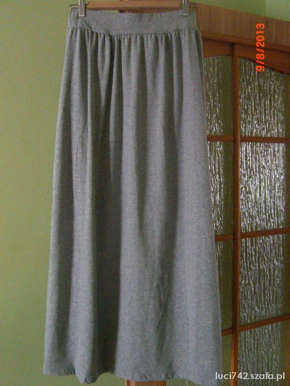 Spódnice Spódnica long maxi szara dresowa