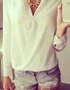 Koszula kopertowa blogerska biała