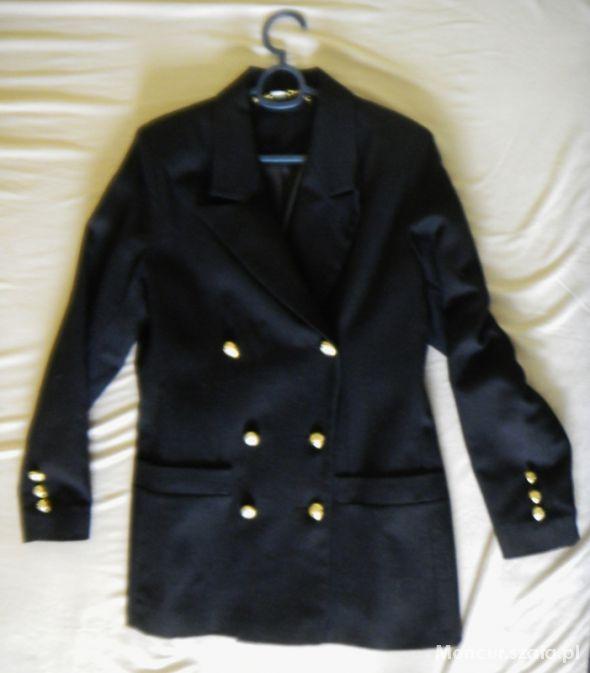 2d1f493a806f7 Marynarki i żakiety Dwurzędowa marynarka retro płaszczyk złote guziki