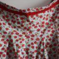 Rozkloszowana spódnica wysoki stan XXL różyczki