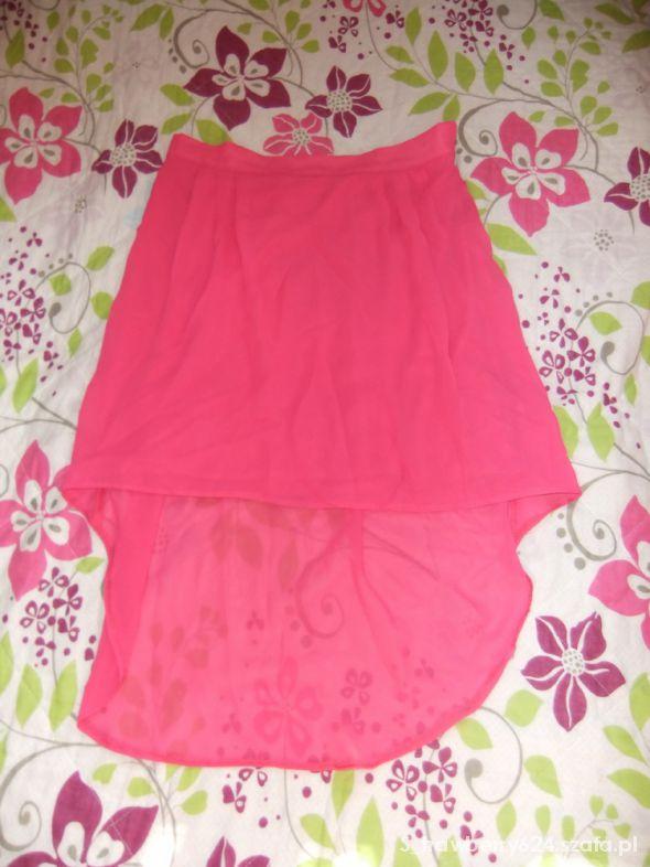 Spódnice asymetryczn różowa spódnica zwiewna