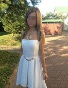 moja stylizacja weselna rozkloszowana sukienka...