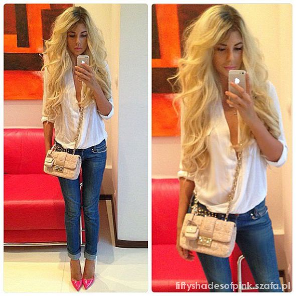 nude jeans neon white