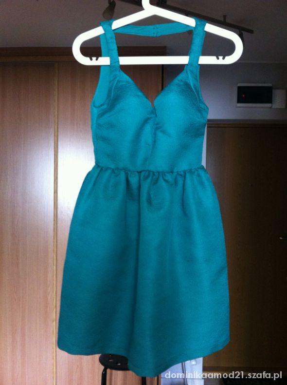 ZARA zielona sukienka 34