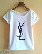 koszulka biala oryginalna YSL...