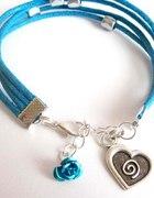 sznurkowa niebieska z serduszkiem