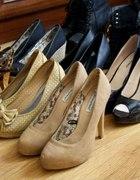 kolekcja wyższych bucików szpileczki koturny lity...