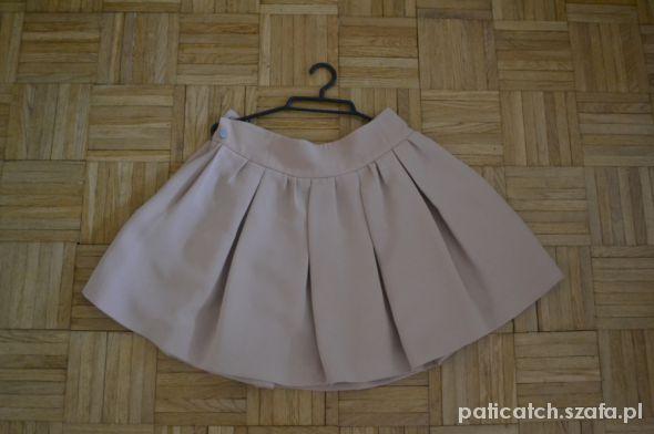 Spódnice cudna spódnica ZARA rozkloszowana ecru M vintage