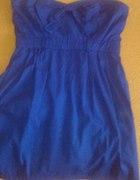 Sukienka niebieska z kokardką firmy Bershka M