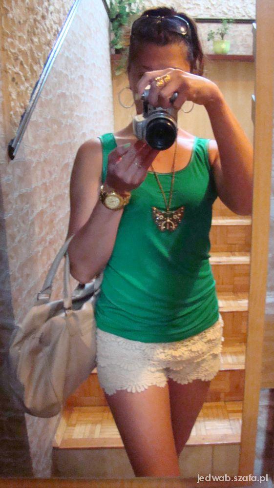Mój styl Koronka i zieleń