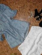 Jeansowa bluzeczka socha bufki...