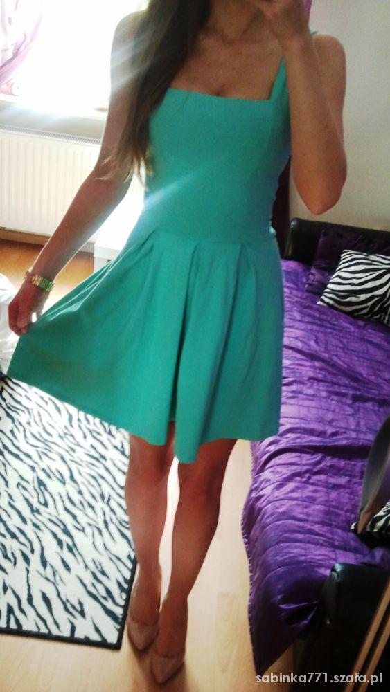 Romantyczne Miętowa sukienka