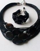 czarna biżuteria czarne agaty