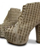 Jeffrey Campbell Lita All Over Spike Grey Suede