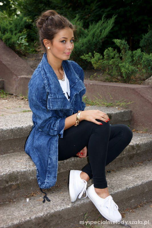 parka jeansowa